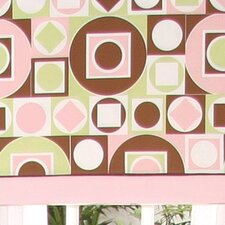 Modern Baby Girl Caffe Tab Top Tailored Curtain Valance