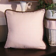 Pink Chocolate Gingham Pillow