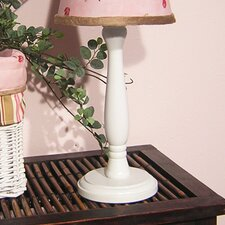 Pink Ladybugs and Dragonflies White Candlesitck Lamp