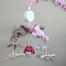 Pink Ladybugs and Dragonflies Musical Mobile