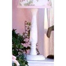 Flower Medley White Candlestick Lamp
