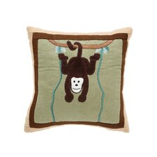 On Safari Monkey Pillow