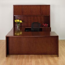 Sonoma U-Shape Bow Front Desk/Storage Office Suite