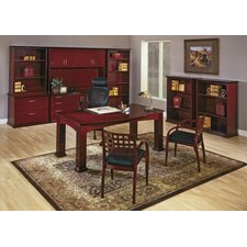Mendocino Executive Bow Front Standard Desk Office Suite