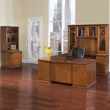 <strong>OSP Furniture</strong> Mendocino U-Shape Executive Desk/Storage Office Suite