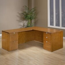 <strong>OSP Furniture</strong> Kenwood L-Shaped Executive Desk with Straight Front
