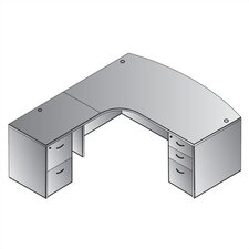 <strong>OSP Furniture</strong> Napa Left L-Shaped Computer Corner Desk