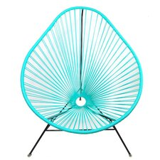 Authentic Acapulco Indoor / Outdoor Chair with Black Frame in Turquoise