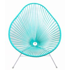 Authentic Acapulco Indoor / Outdoor Chair with White Frame in Turquoise