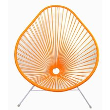Authentic Acapulco Indoor / Outdoor Chair with White Frame in Orange
