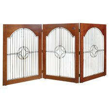 Universal Free Standing Wood and Wire Pet Gate