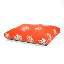 Coral Rectangle Pet Bed