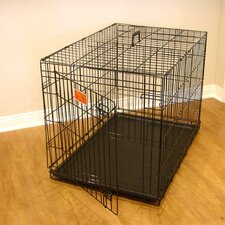 Single Door Folding Pet Crate