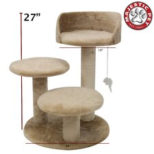 "27"" Casita Fur Cat Tree"