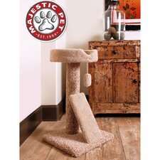 "30"" Carpeted Ramp Claw Bed Cat Tree"