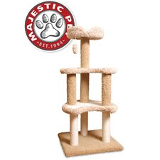 "50"" Carpeted Sherpa Moon Cat Tree"