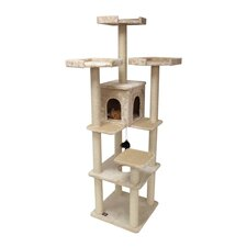 "80"" Casita Fur Cat Tree in Beige"