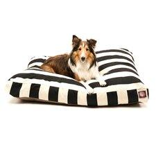 Vertical Stripe Rectangular Pet Bed