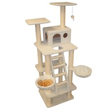 "<strong>Majestic Pet Products</strong> 72"" Bungalow Sherpa Cat Tree"