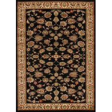 Samatra Traditional Persian Style Black Neo Ivory Rug