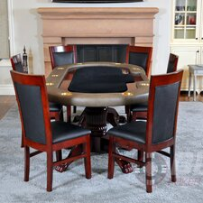 <strong>BBO Poker</strong> Premier 8 Piece Poker Dining Table Set with Dining Chairs