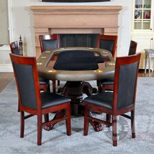 <strong>BBO Poker</strong> Premier 8 Piece Poker Dining Table Set with Lounge Chairs