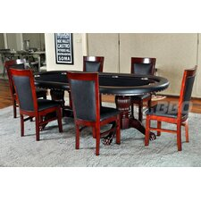 <strong>BBO Poker</strong> Rockwell 8 Piece Poker Dining Table Set with Dining Chairs