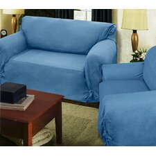 Loosefit Denim Chambray Chair Slipcover