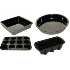 Non-Stick Silicone Four Piece Bakeware Set