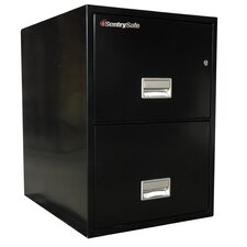 1 Hr Fireproof Key Lock 2 Drawer Letter File Safe