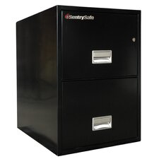 "19.6"" W x 31"" D 2-Drawer Fireproof Key Lock Letter File Safe"