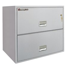 "35.8"" W x 20.5"" D 2-Drawer Fireproof Key Lock Letter File Safe"