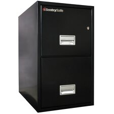 2 Hr Fireproof Key Lock 2 Drawer Letter File Safe