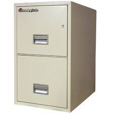 """16.6"""" W x 25"""" D 2-Drawer Fireproof Key Lock Letter File Safe"""