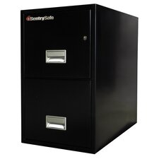 2-Drawer Fireproof Key Lock Letter File Safe