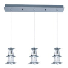 Flask 3 Light Kitchen Island Pendant