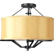 Avant 3 Light Semi Flush Mount