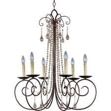 Adriana 6 Light Candle Chandelier