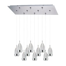 Luxe 10 Light RapidJack Kitchen Island Pendant