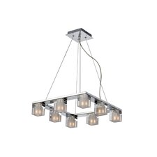 Blocs 8 Light Square Pendant