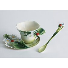 Ladybug Cup, Saucer and Spoon Set
