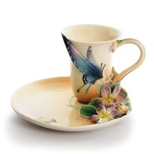 Spotted Butterfly Cup and Saucer Set