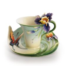 Question Mark Butterfly Cup and Saucer Set