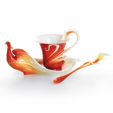 Phoenix in Flight Bird Cup, Saucer and Spoon Set