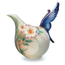 Fluttering Beauty Flower and Butterfly Creamer