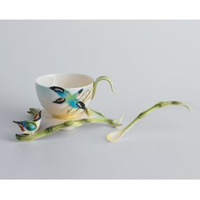 Bamboo Song Bird Cup, Saucer and Spoon Set