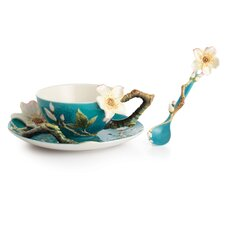 Van Gogh Flower Cup, Saucer and Spoon Set