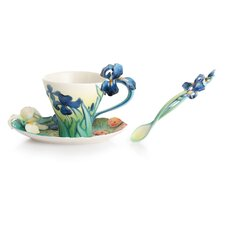 Van Gogh Iris Flower Cup, Saucer and Spoon Set