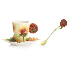 <strong>Franz Collection</strong> Van Gogh Sunflowers Cup, Saucer and Spoon Set