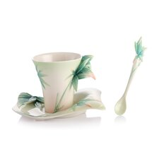 Four Seasons Bamboo Cup, Saucer and Spoon Set